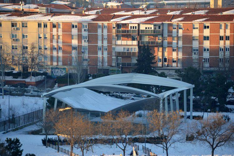 tejados ligeros colapsada por nevada