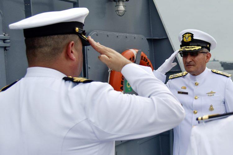 Almirante Evelio Enrique Ramírez Gáfaro Armada de Colombia corbeta