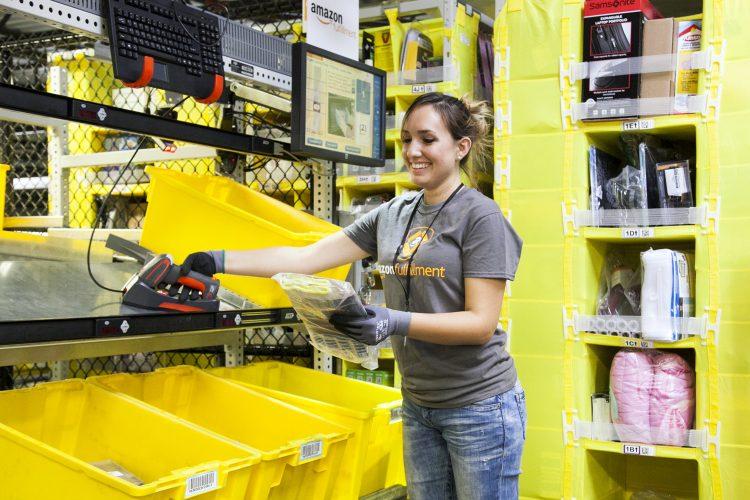 centros de distribución Amazon