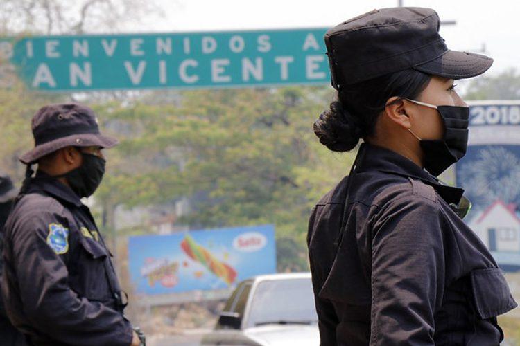Policía Nacional Civil El Salvador coronavirus