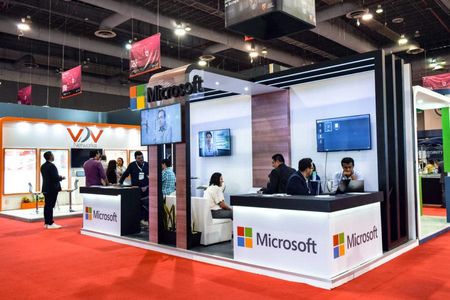Infosecurity México stand Microsoft