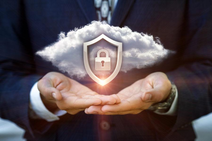 ciberseguridad y teletrabajo concepto de nube
