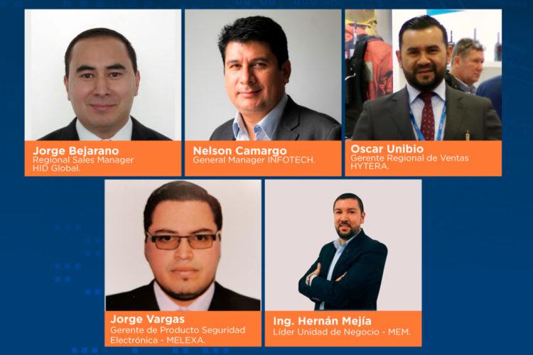 Ponentes del evento Casos de Éxito en la Industria de la Seguridad organizado por ESS+ y Corferias