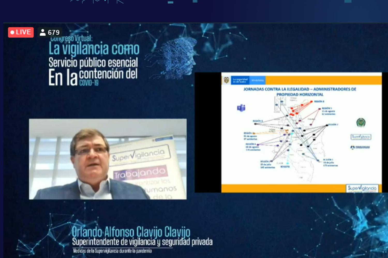 seguridad privada Orlando Alfonso Clavijo Clavijo en el congreso virtual de ECOS Colombia