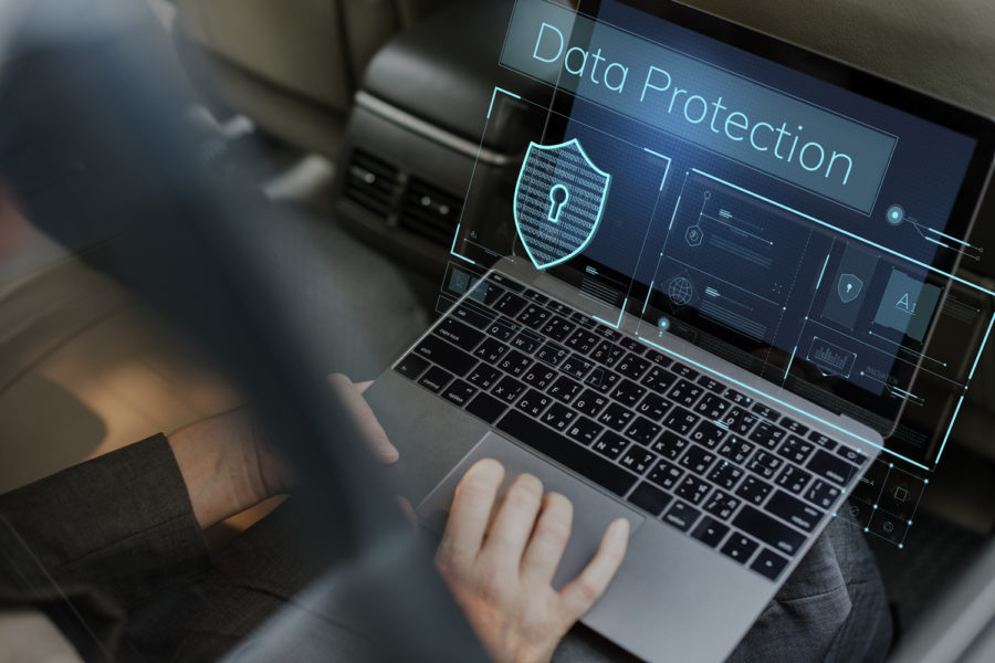 seguridad de los datos ordenador portátil data protection