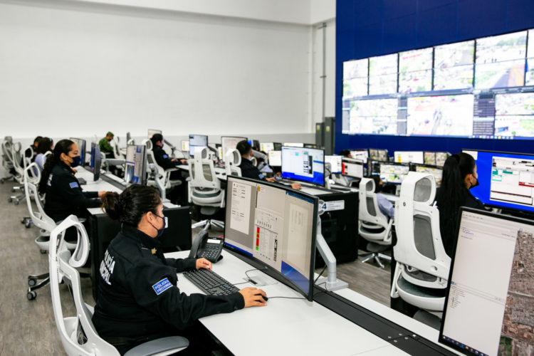 seguridad pública centro de monitoreo C4 de Querétaro México