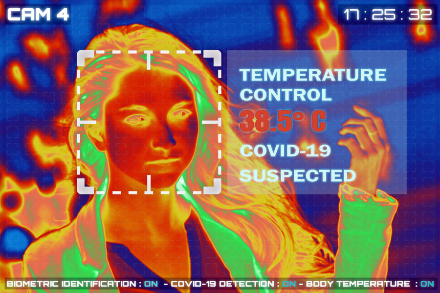 control de temperatura para detectar contagios por coronavirus