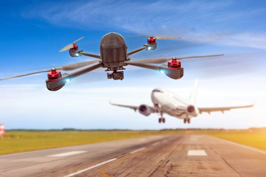 sistemas antidrones para reforzar la seguridad aeroportuaria