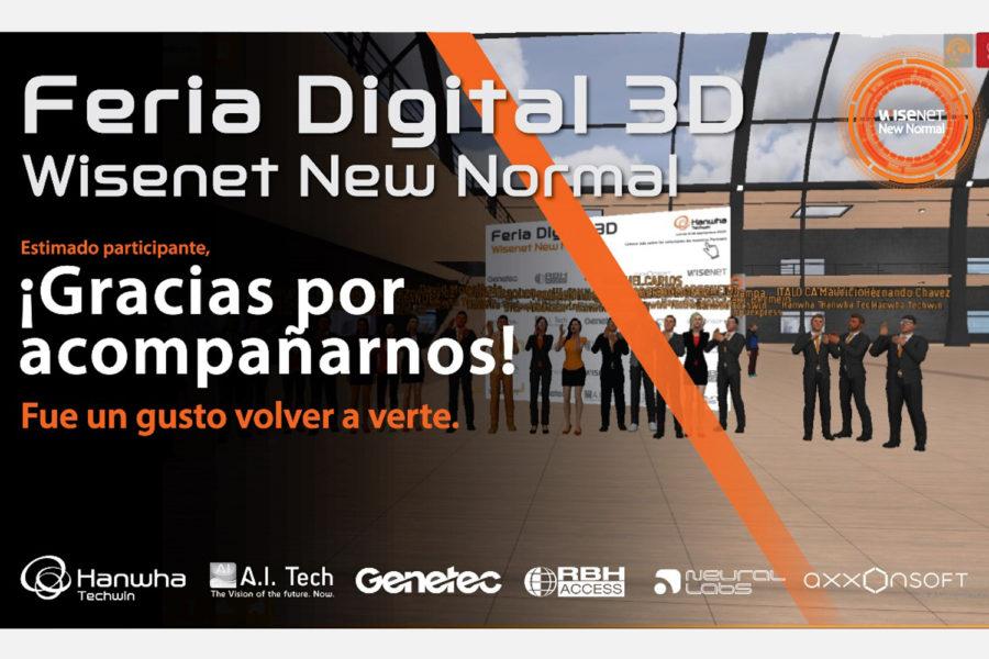 Hanwha Techwin Feria Digital 3D Wisenet New Normal