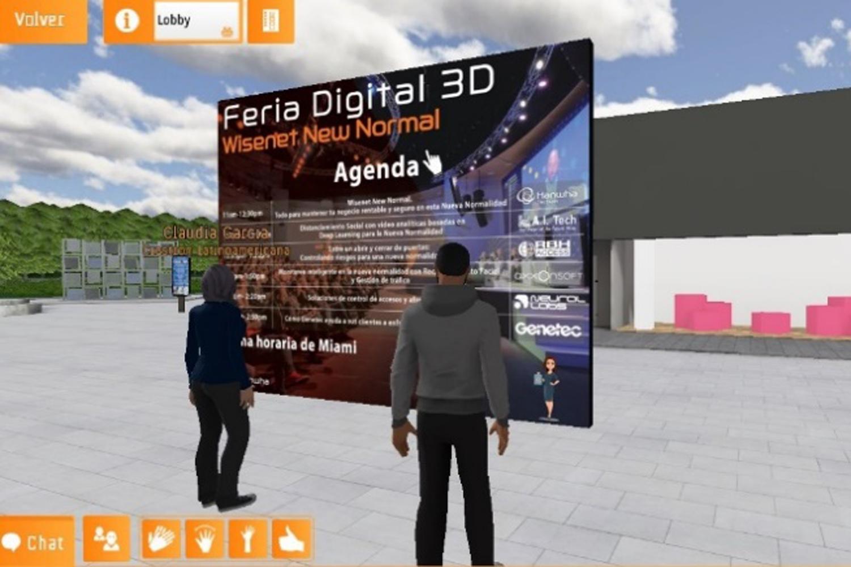 Hanwha Techwin participantes en la Feria Digital 3D Wisenet New Normal