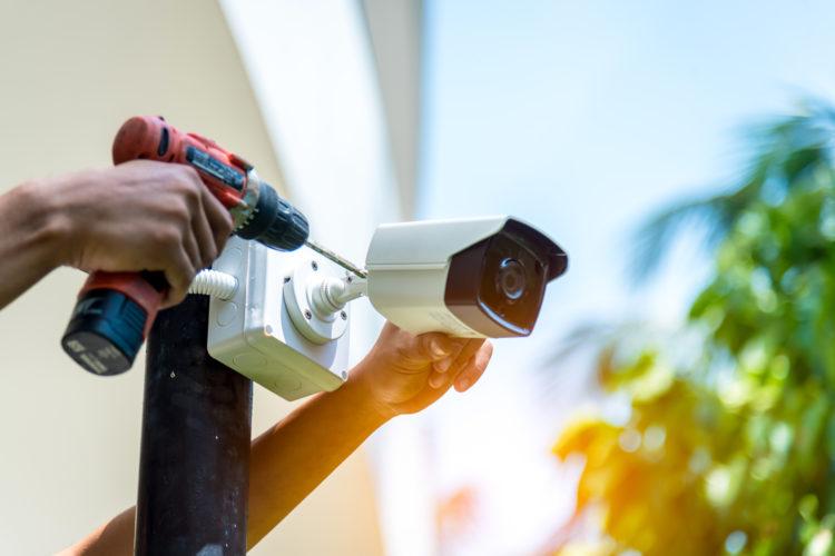 videovigilancia instalación de una cámara