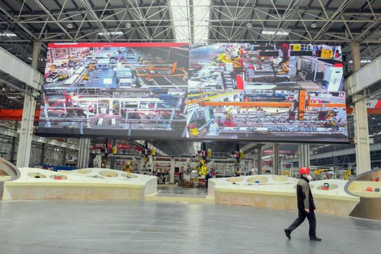 Pantalla gigante LED de Absen para Sany Group