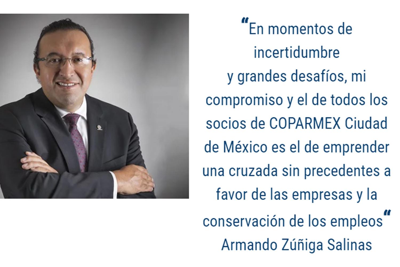 seguridad privada Armando Zúñiga Salinas presidente de Coparmex CDMX