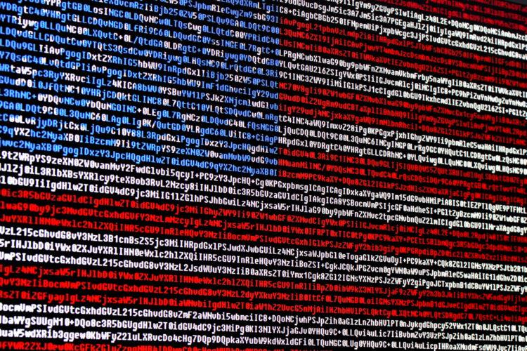 ciberseguridad bandera digital de Estados Unidos