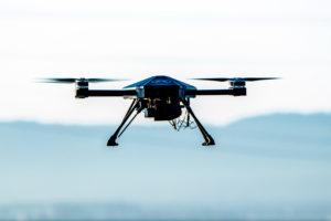 dron del sistema perimetral de Nightingale Security