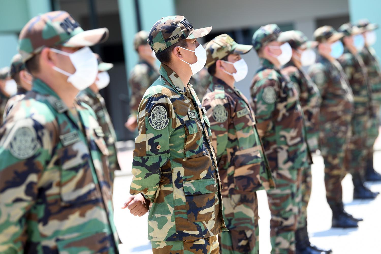 Efectivos del Frente Policial Vraem de la Policía Nacional del Perú