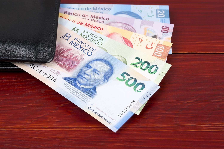 dinero en efectivo pesos mexicanos
