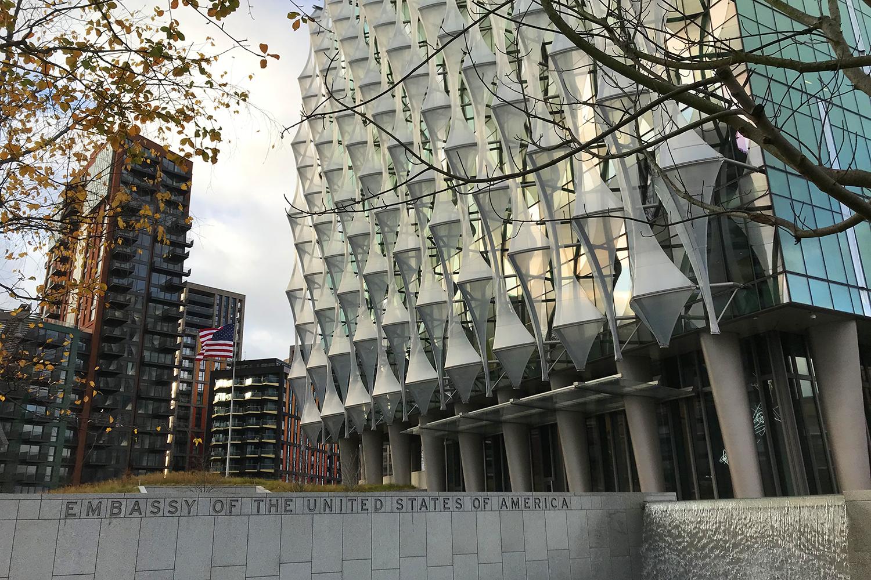 infraestructuras críticas embajada de Estados Unidos en Londres