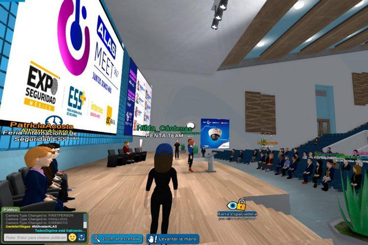 ALAS Meet 360 auditorio del evento virtual