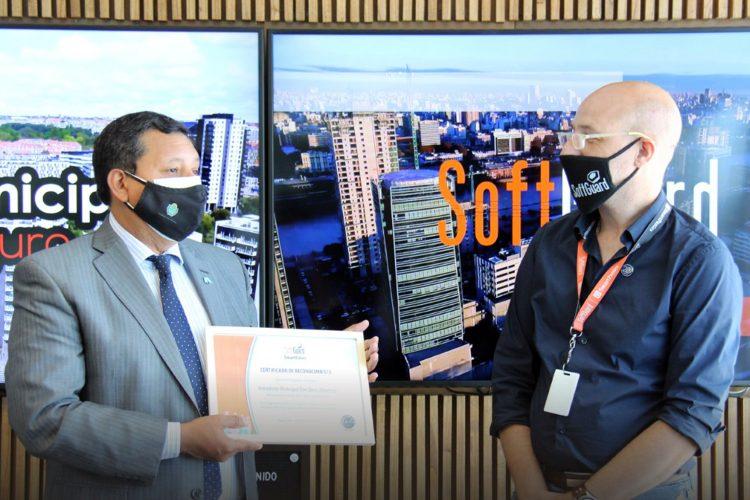Darío Monteros intendente municipal de la Banda del Río Salí y Daniel Banda CEO de SoftGuard