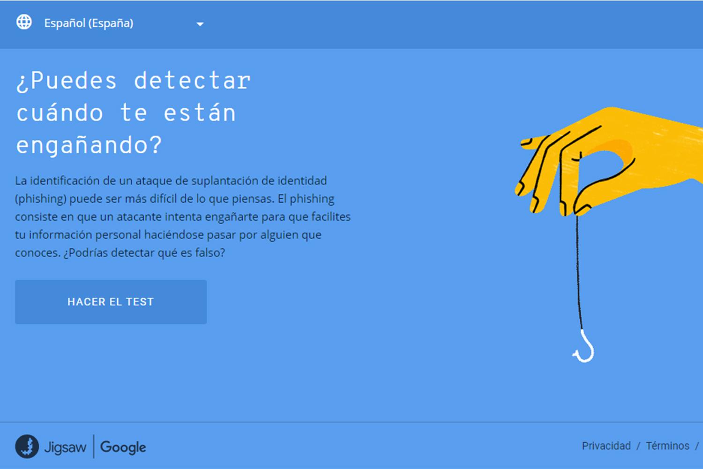 ciberseguridad test de phishing de Google