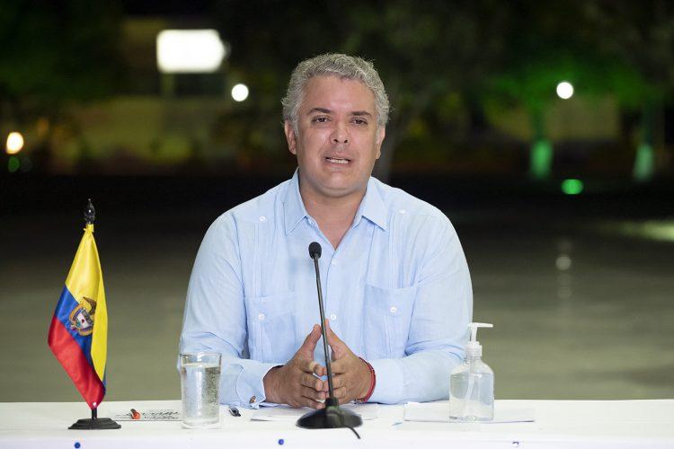 Ivan Duque, presidente de Colombia, en un discurso televisivo