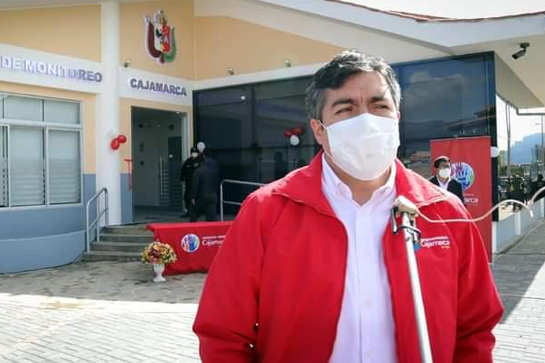 Andrés Villar Narro inaugura sistema de videovigilancia de Cajamarca