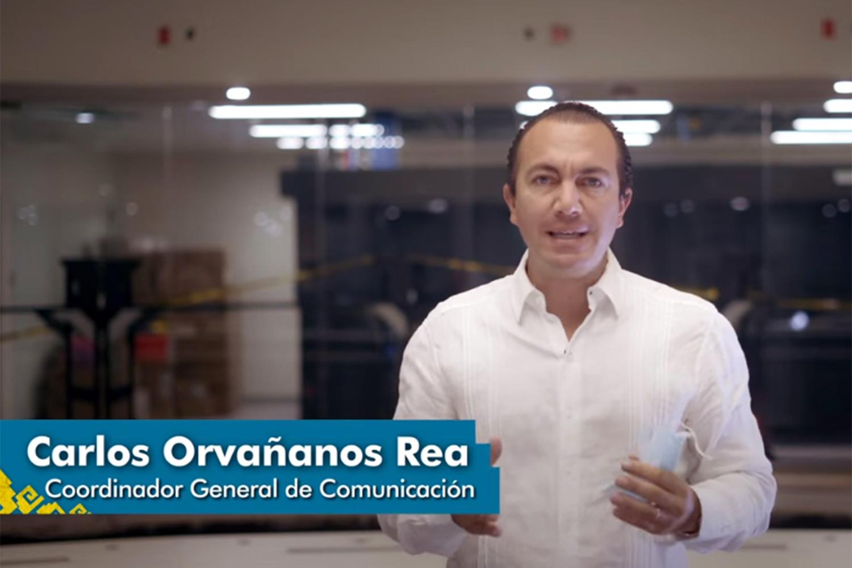 Carlos Orvañanos Rea portavoz del estado de Quintana Roo habla sobre el C5 de videovigilancia