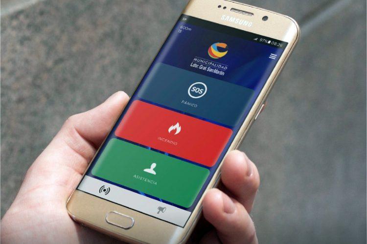 aplicación SmartPanics de SoftGuard en un smartphone