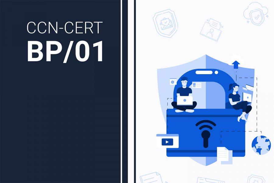 Portada del informe Principios y recomendaciones básicas en ciberseguridad del CCN-CERT español.