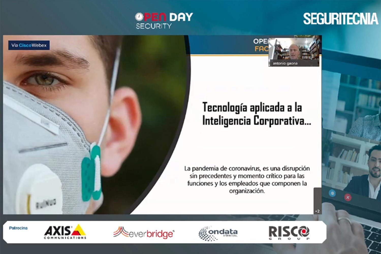 ponencia de Antonio Gaona sobre inteligencia y seguridad corporativa