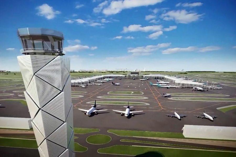 Torre de control del Aeropuerto Internacional Felipe Ángeles de la Ciudad de México