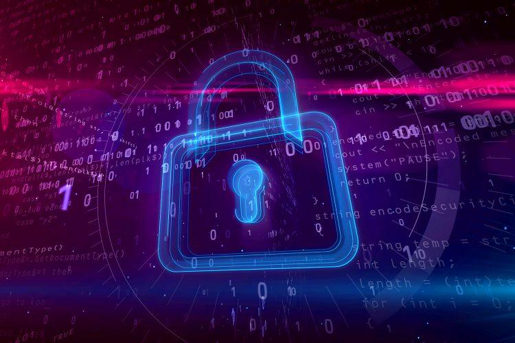 candado de ciberseguridad digital