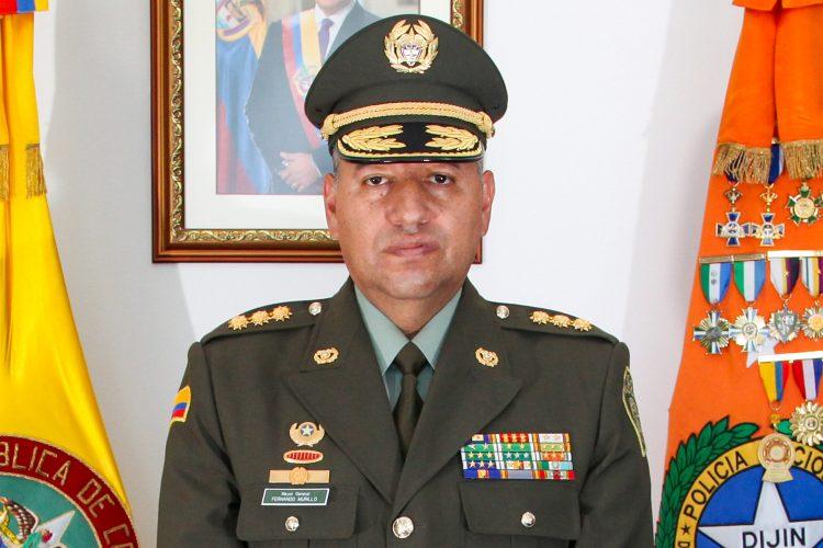 Mayor general Fernando Murillo director de la Dirección de Investigación Criminal e Interpol (DIJIN) de la Policía Nacional de Colombia
