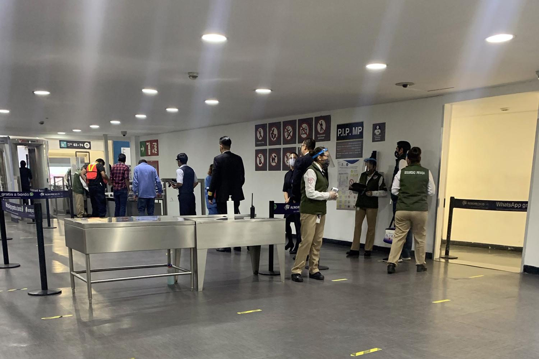 seguridad privada en el Aeropuerto Internacional de la Ciudad de México