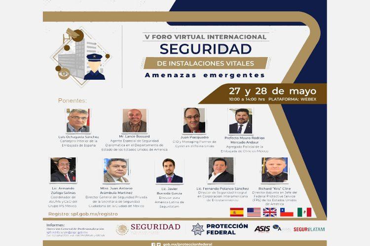 V Foro Virtual Internacional Seguridad de Instalaciones Vitales de México 2021