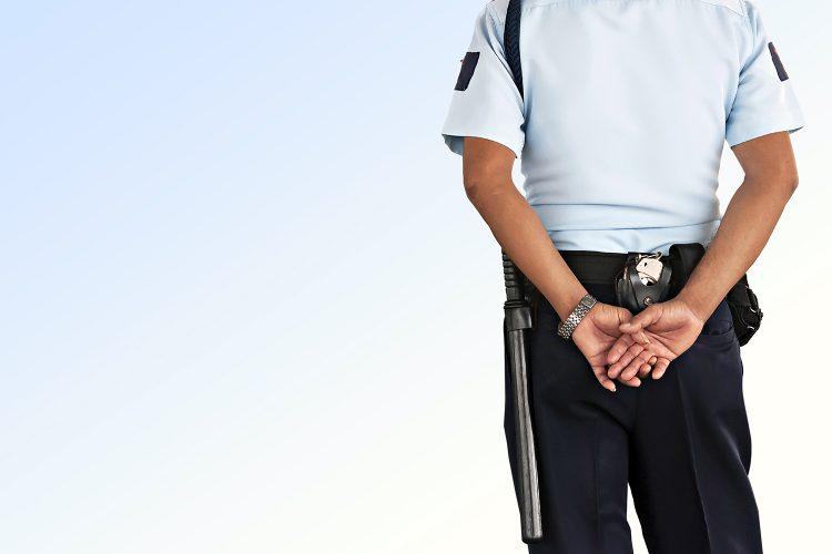 un vigilante de seguridad privada
