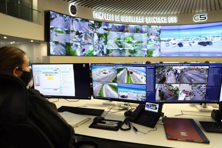 puesto de monitoreo del C5 de Quintana Roo