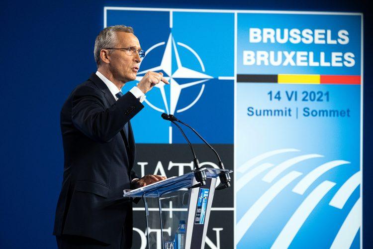 Jens Stoltenberg secretario general de la OTAN en la cumbre de Bruselas 2021