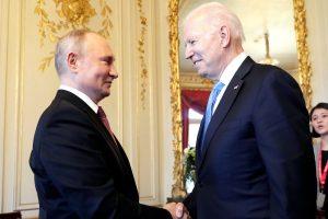 Los presidentes Vladimir Putin y Joe Biden se reúnen en Ginebra