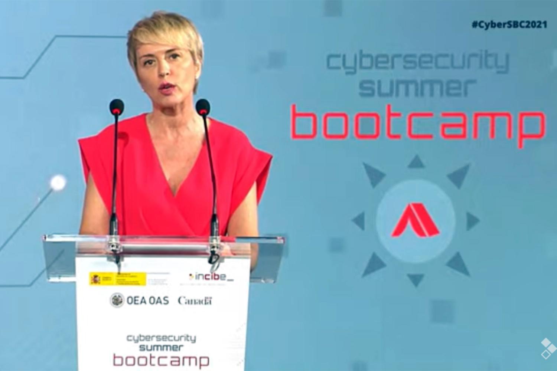 Carme Artigas en la inauguración del Cybersecurity Summer BootCamp del Instituto Nacional de Ciberseguridad Incibe