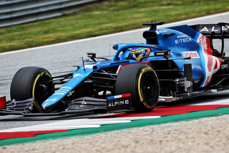 Fernando Alonso en el GP de Austria de Fórmula 1 2021