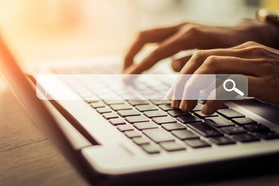 un internauta realiza una búsqueda en un navegador web