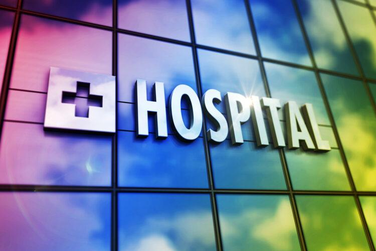letrero de hospital