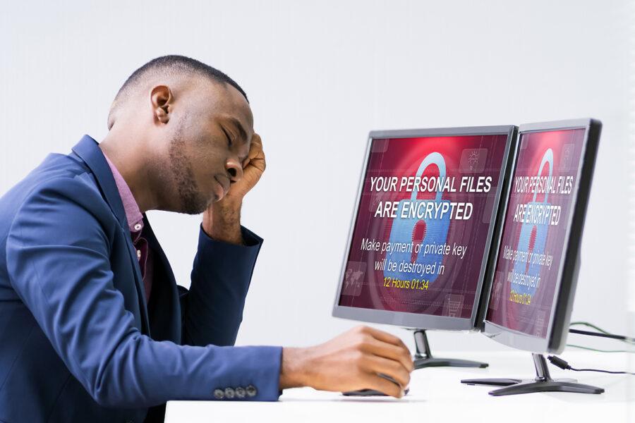 un usuario es víctimas de un ataque de ransomware