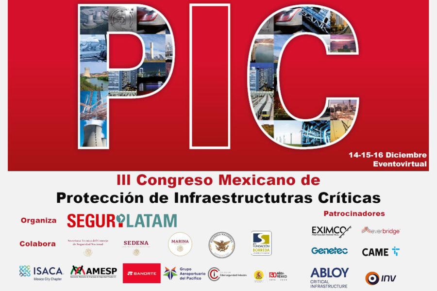 cartel del III Congreso Mexicano de Protección de Infraestructuras Críticas